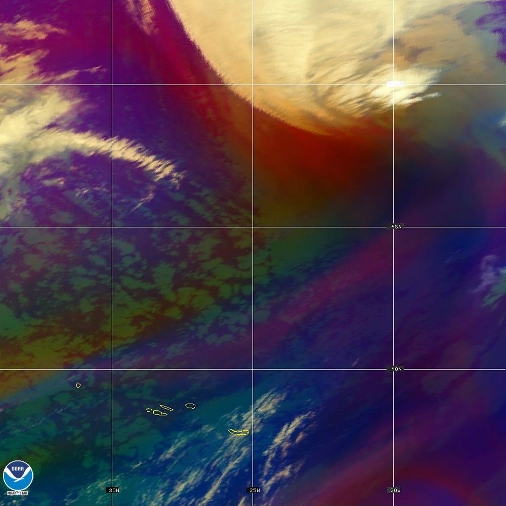 Air Mass - RGB composite based on the data from IR and WV - 02 Oct 2019 - 2240 UTC