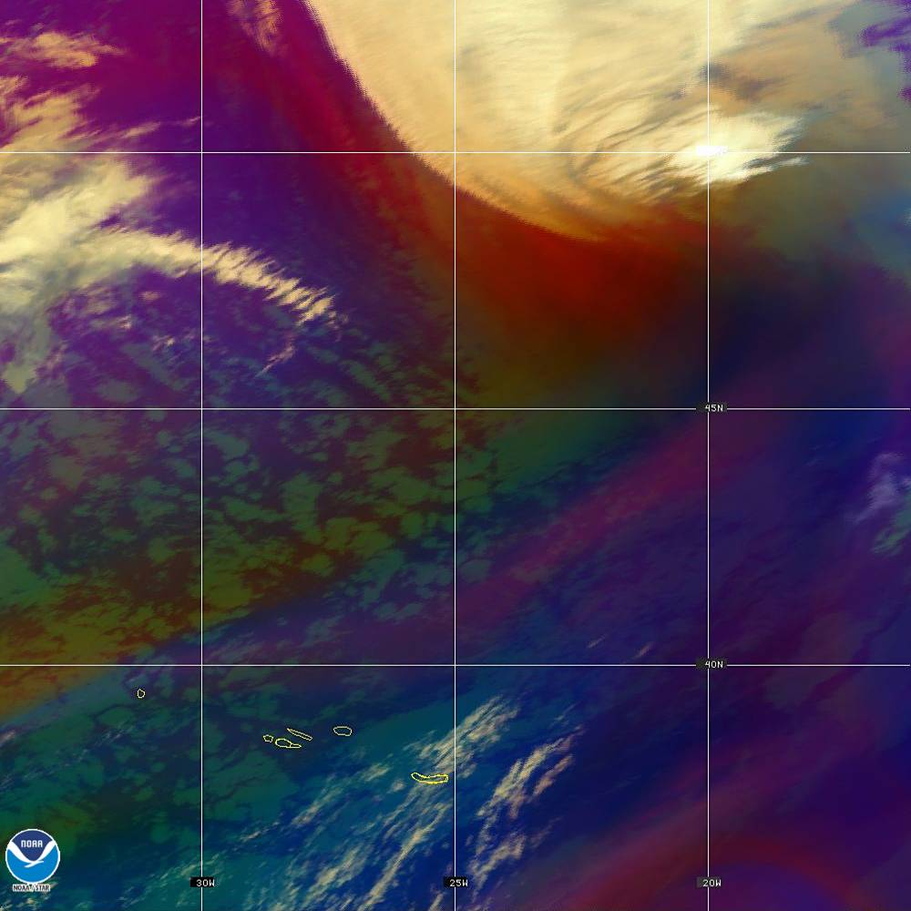 Air Mass - RGB composite based on the data from IR and WV - 02 Oct 2019 - 2250 UTC