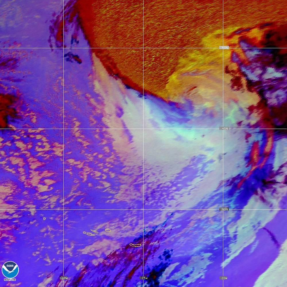 Nighttime Microphysics - RGB used to distinguish clouds from fog - 02 Oct 2019 - 1950 UTC