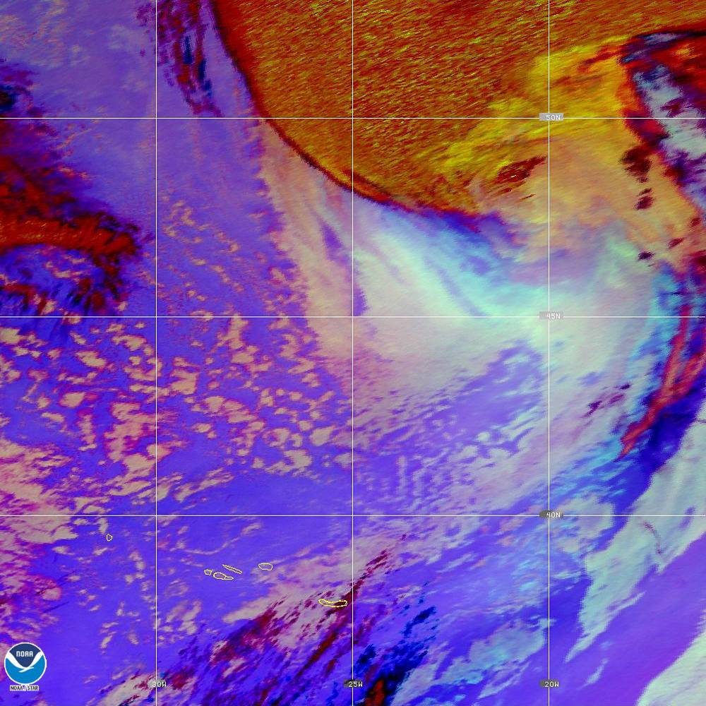 Nighttime Microphysics - RGB used to distinguish clouds from fog - 02 Oct 2019 - 2110 UTC