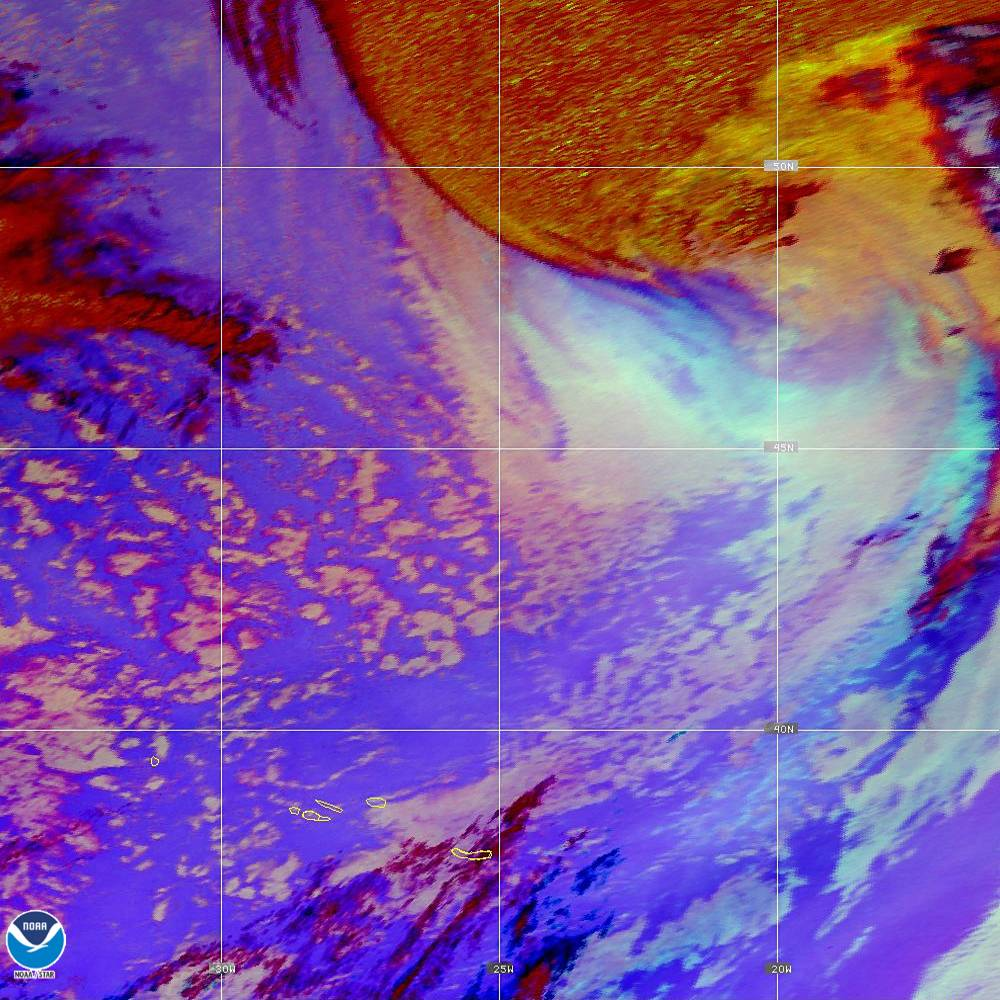Nighttime Microphysics - RGB used to distinguish clouds from fog - 02 Oct 2019 - 2150 UTC