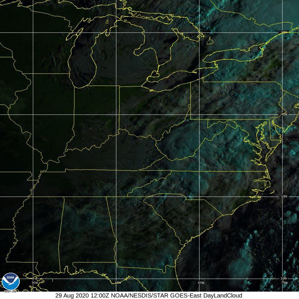 Day Land Cloud - EUMETSAT Natural Color - 29 Aug 2020 - 1200 UTC