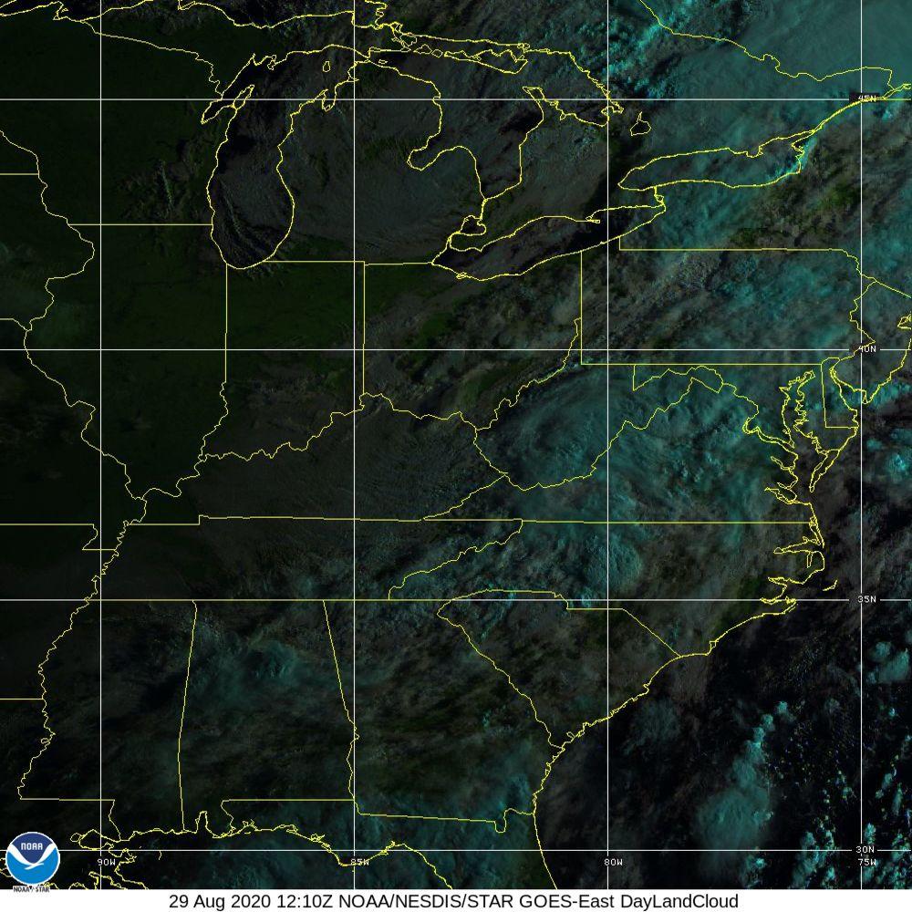 Day Land Cloud - EUMETSAT Natural Color - 29 Aug 2020 - 1210 UTC