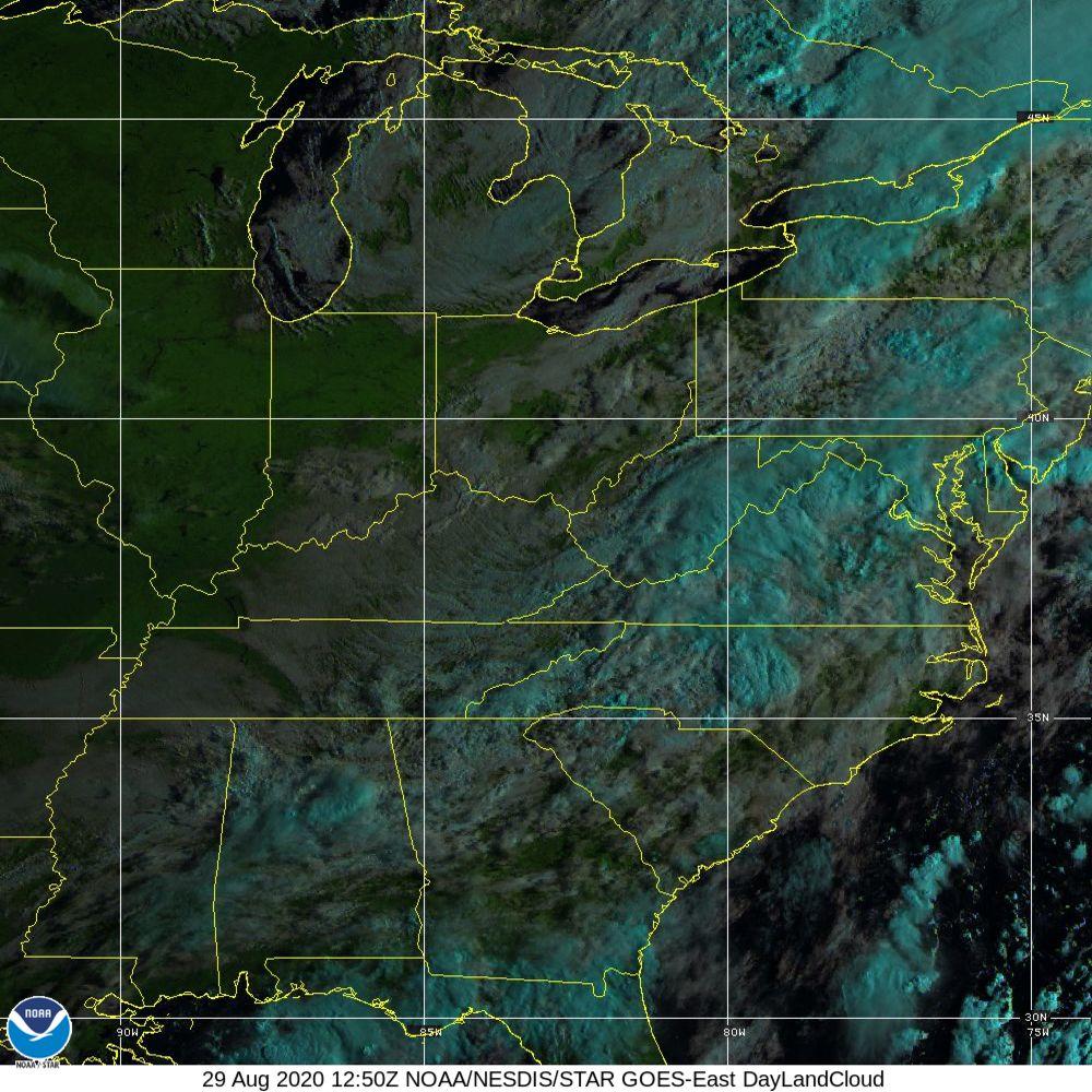 Day Land Cloud - EUMETSAT Natural Color - 29 Aug 2020 - 1250 UTC