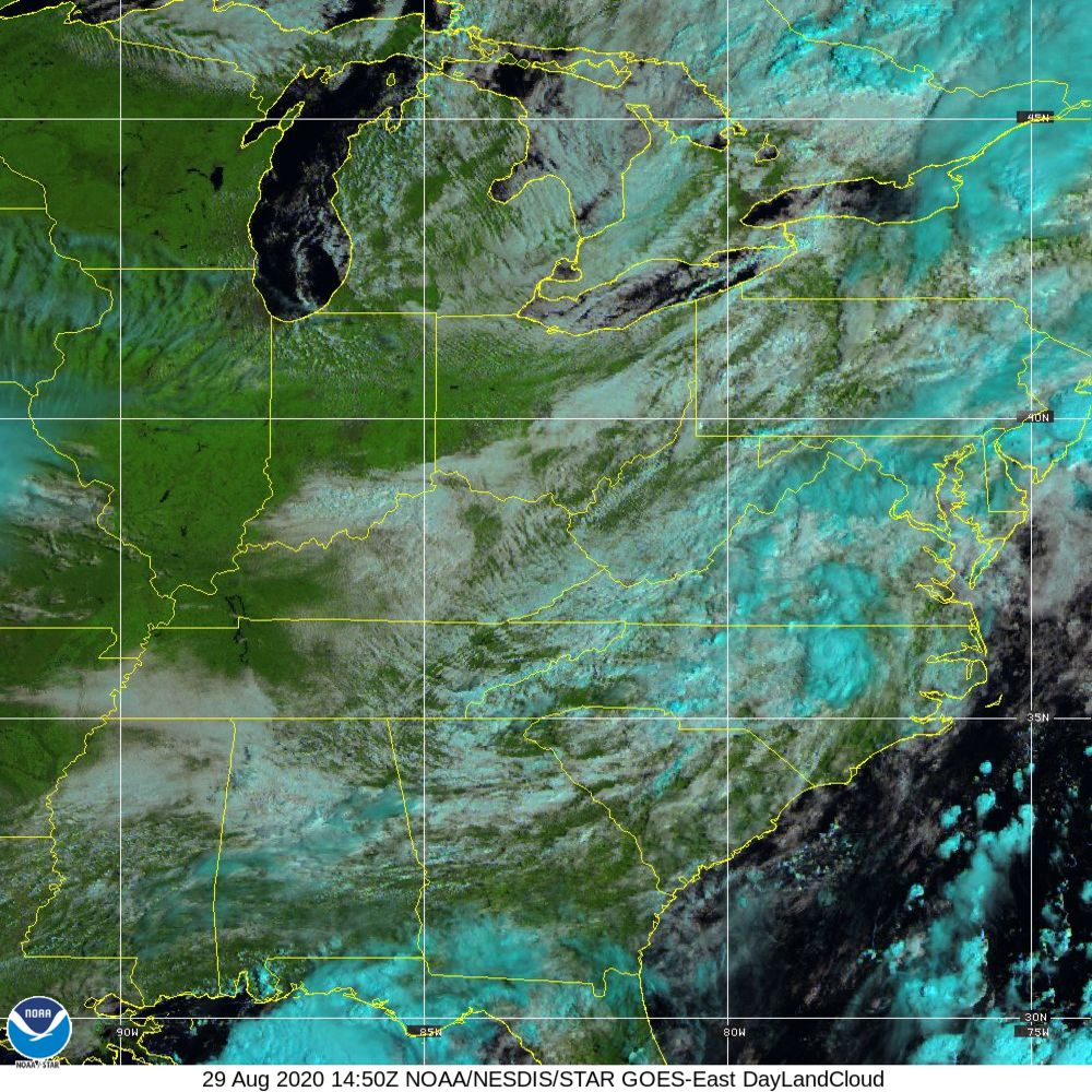 Day Land Cloud - EUMETSAT Natural Color - 29 Aug 2020 - 1450 UTC