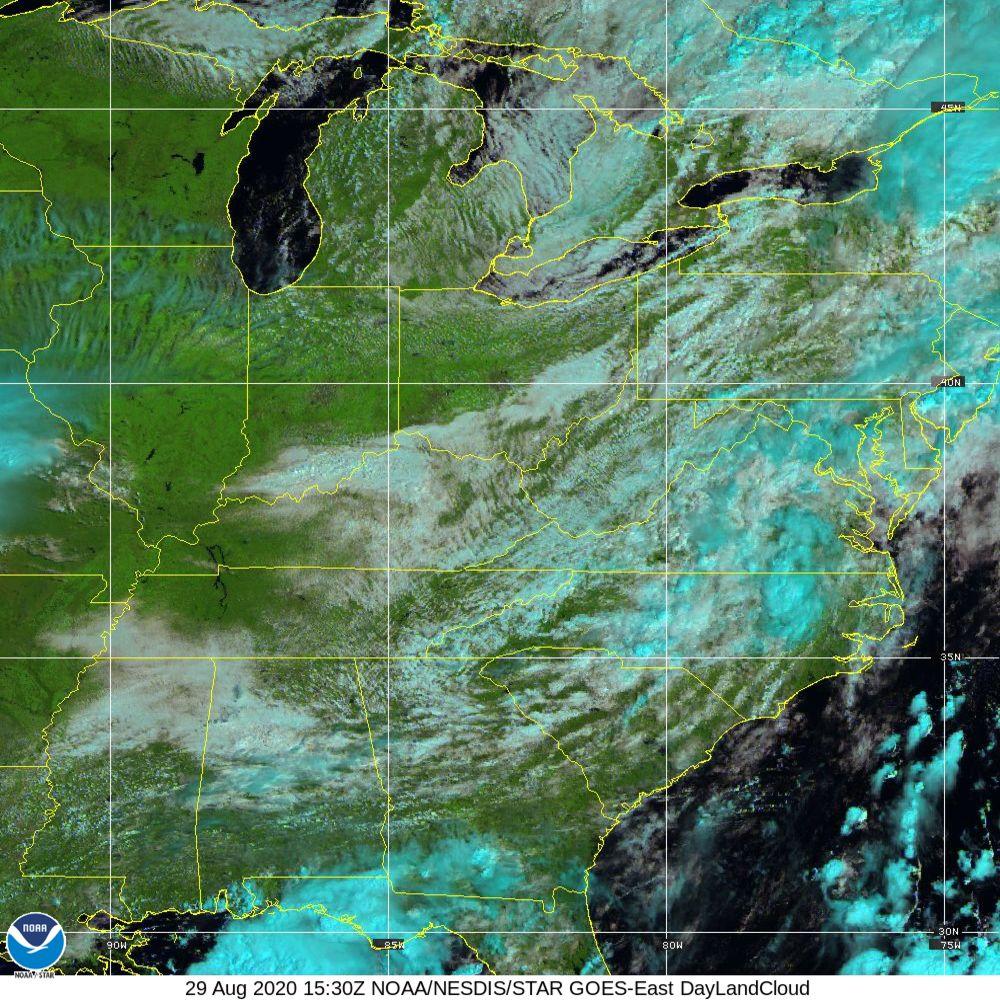 Day Land Cloud - EUMETSAT Natural Color - 29 Aug 2020 - 1530 UTC
