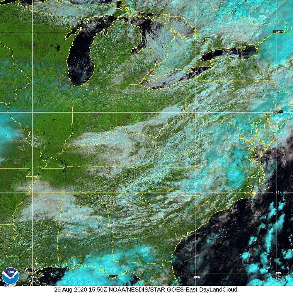 Day Land Cloud - EUMETSAT Natural Color - 29 Aug 2020 - 1550 UTC