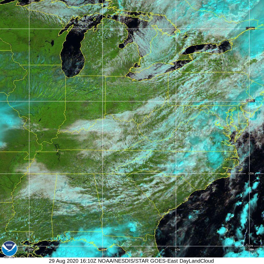 Day Land Cloud - EUMETSAT Natural Color - 29 Aug 2020 - 1610 UTC