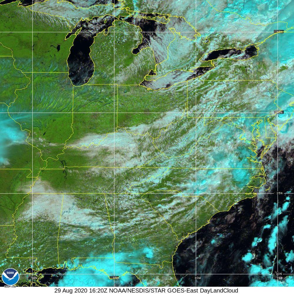 Day Land Cloud - EUMETSAT Natural Color - 29 Aug 2020 - 1620 UTC