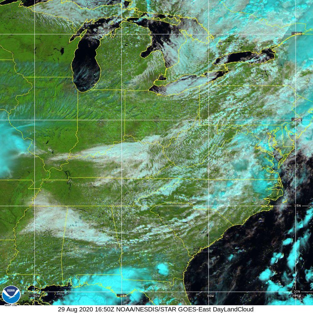 Day Land Cloud - EUMETSAT Natural Color - 29 Aug 2020 - 1650 UTC