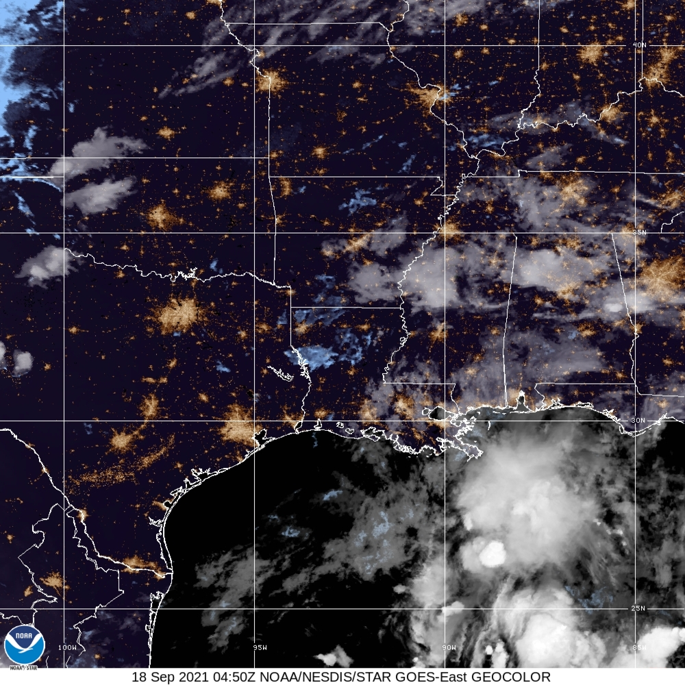 TROPICAL DEPRESSION Nicholas Satellite Image