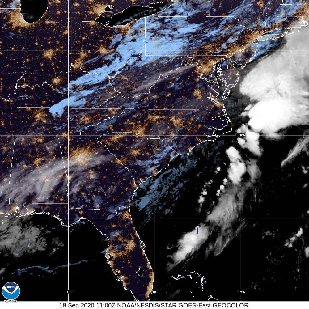 TROPICAL DEPRESSION Sally Satellite Image