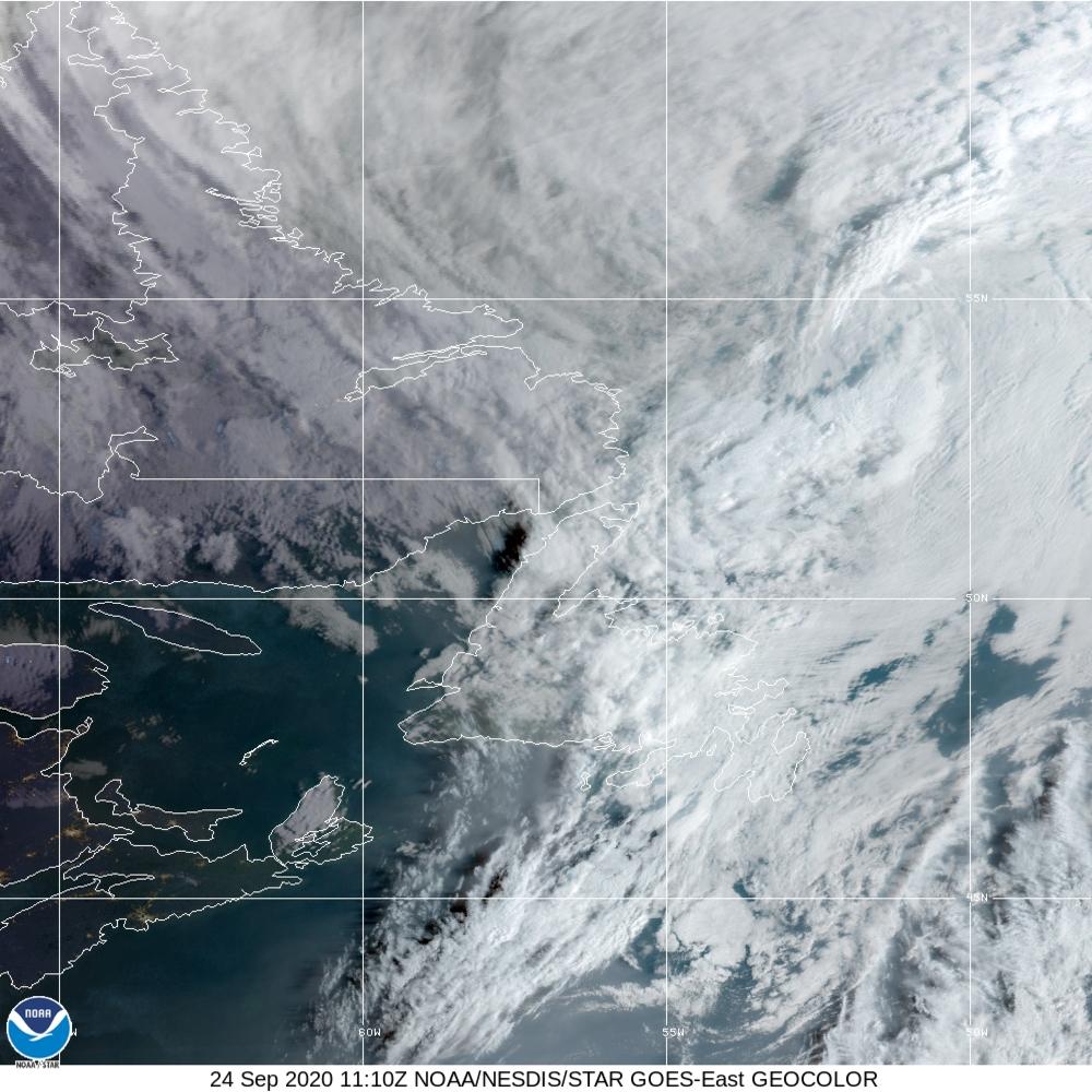 Hurricane Teddy Satellite Image