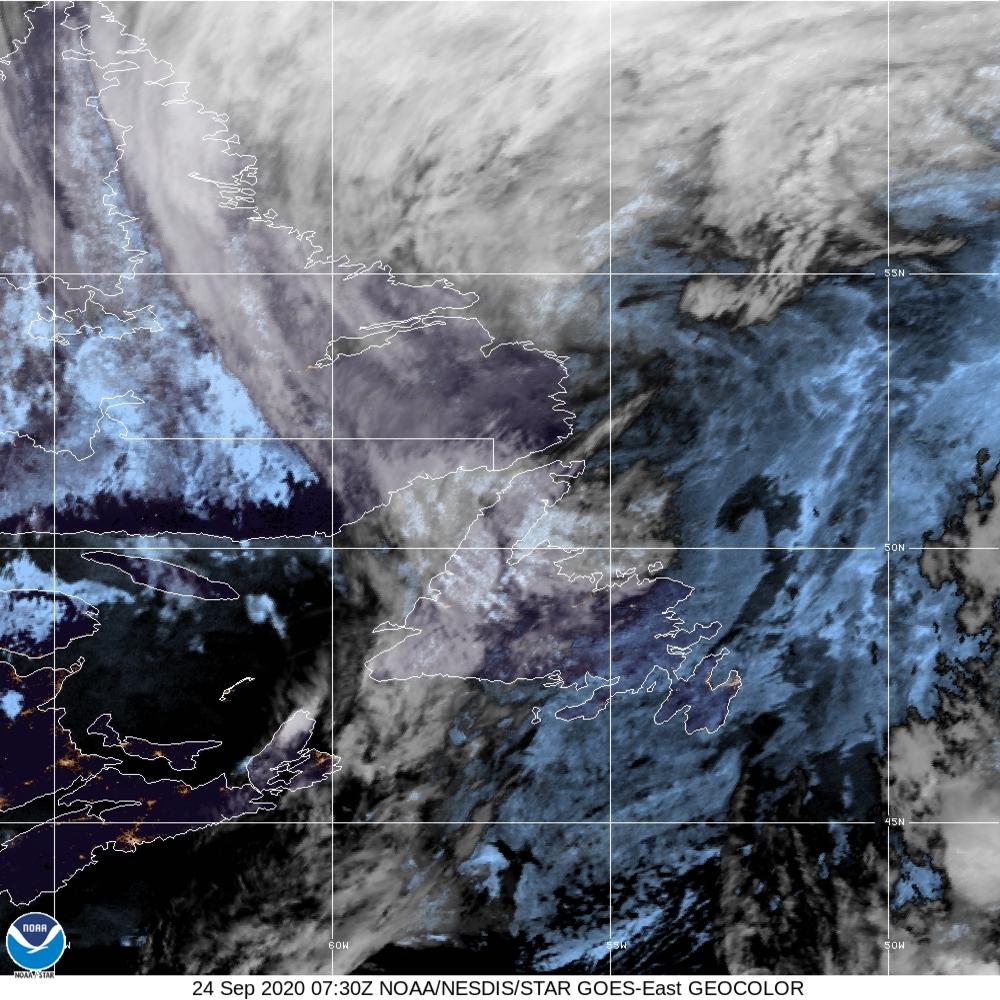 GeoColor - True Color daytime, multispectral IR at night - 24 Sep 2020 - 0730 UTC