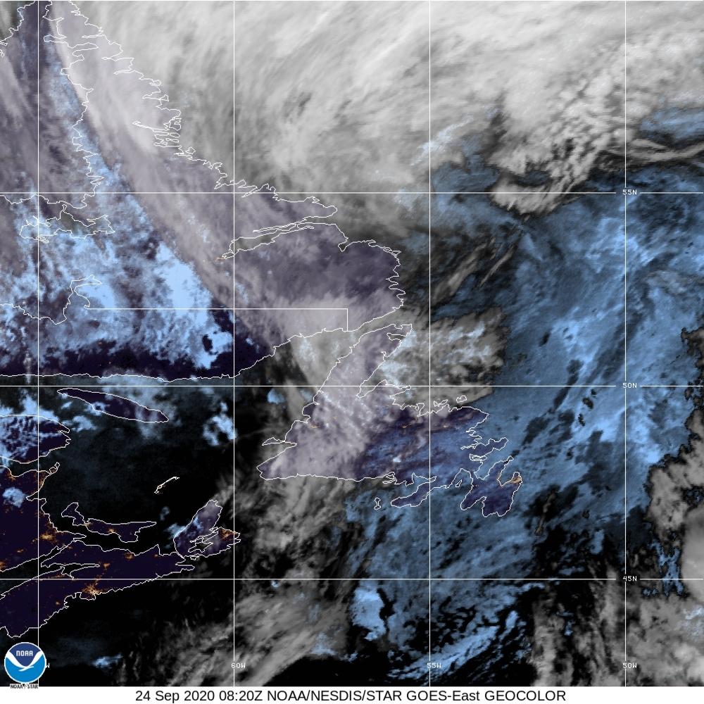 GeoColor - True Color daytime, multispectral IR at night - 24 Sep 2020 - 0820 UTC