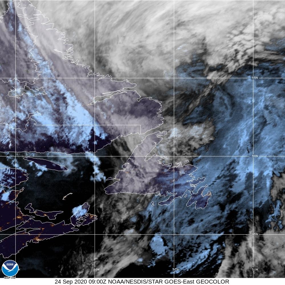 GeoColor - True Color daytime, multispectral IR at night - 24 Sep 2020 - 0900 UTC