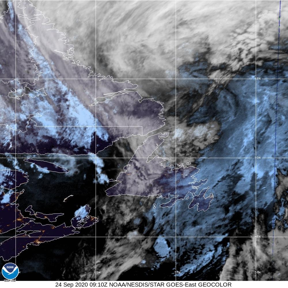 GeoColor - True Color daytime, multispectral IR at night - 24 Sep 2020 - 0910 UTC