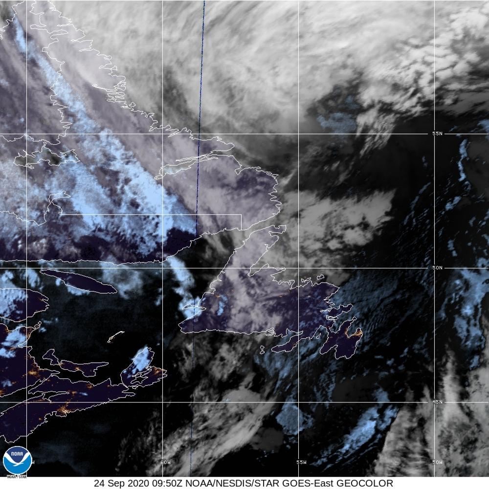 GeoColor - True Color daytime, multispectral IR at night - 24 Sep 2020 - 0950 UTC