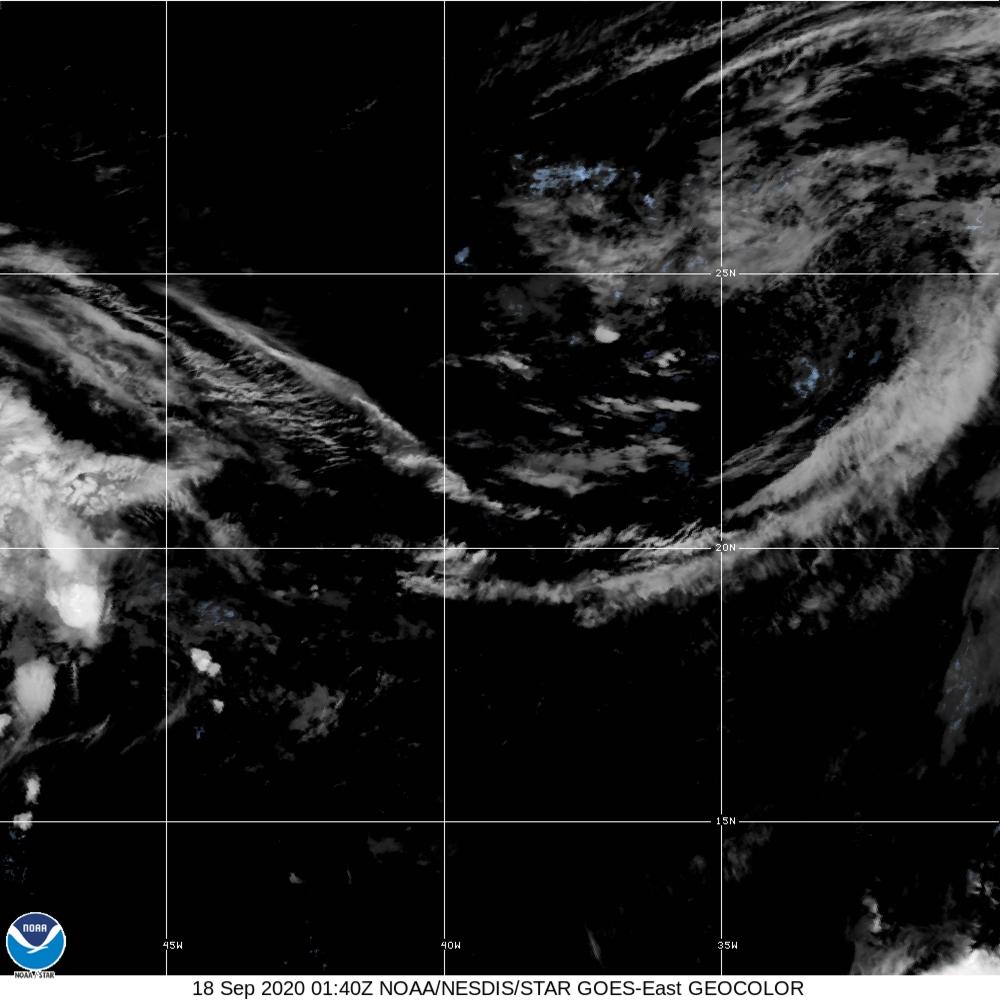GeoColor - True Color daytime, multispectral IR at night - 18 Sep 2020 - 0140 UTC