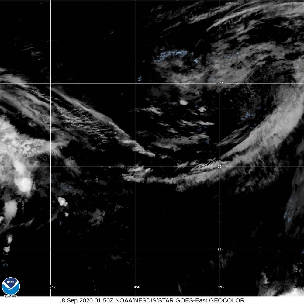 GeoColor - True Color daytime, multispectral IR at night - 18 Sep 2020 - 0150 UTC