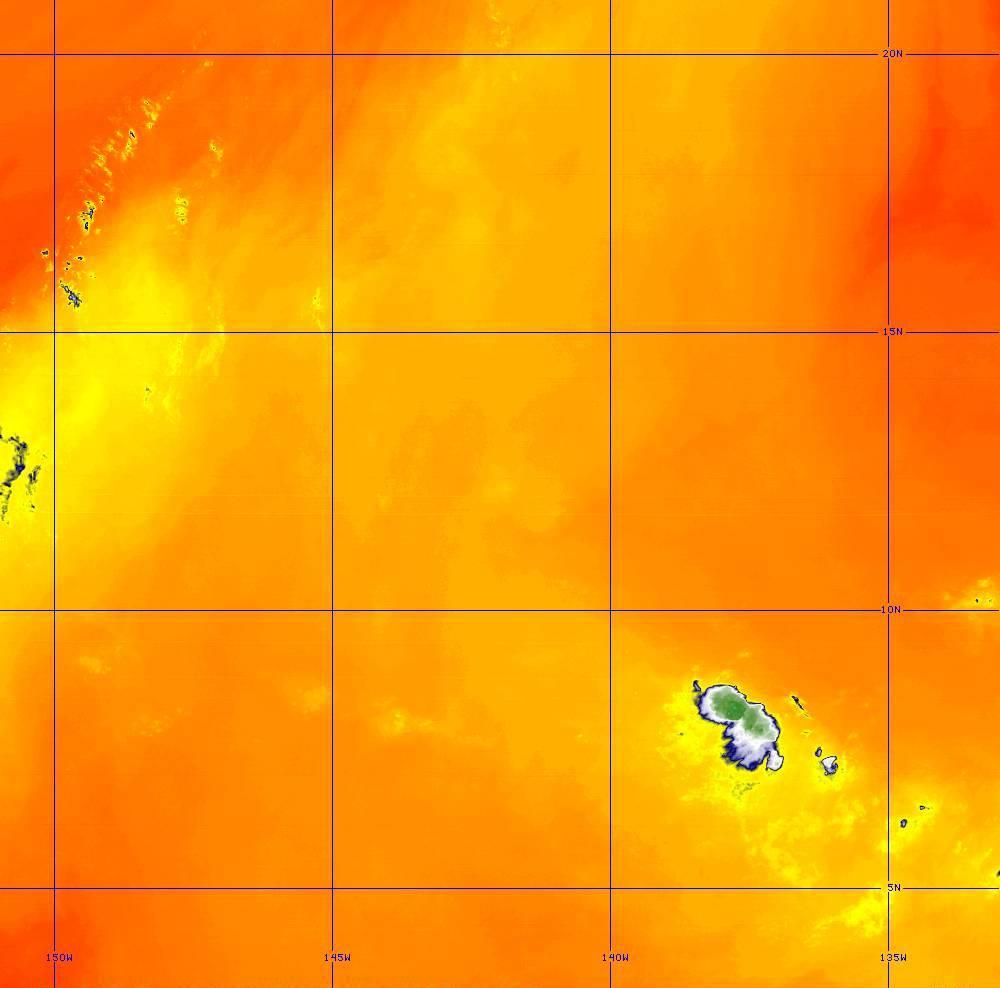 Band 10 - 7.3 µm - Lower-level Water Vapor - IR - 28 Jun 2020 - 1420 UTC