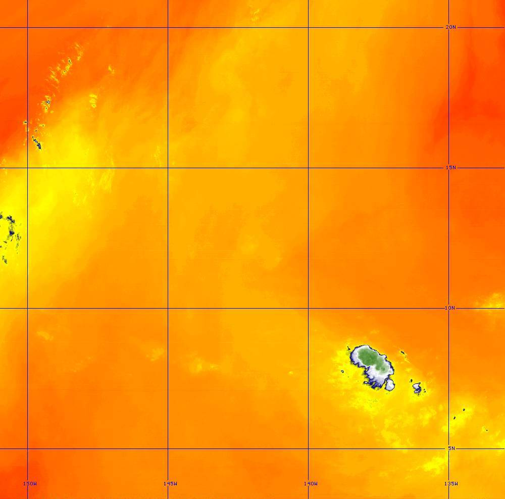 Band 10 - 7.3 µm - Lower-level Water Vapor - IR - 28 Jun 2020 - 1440 UTC