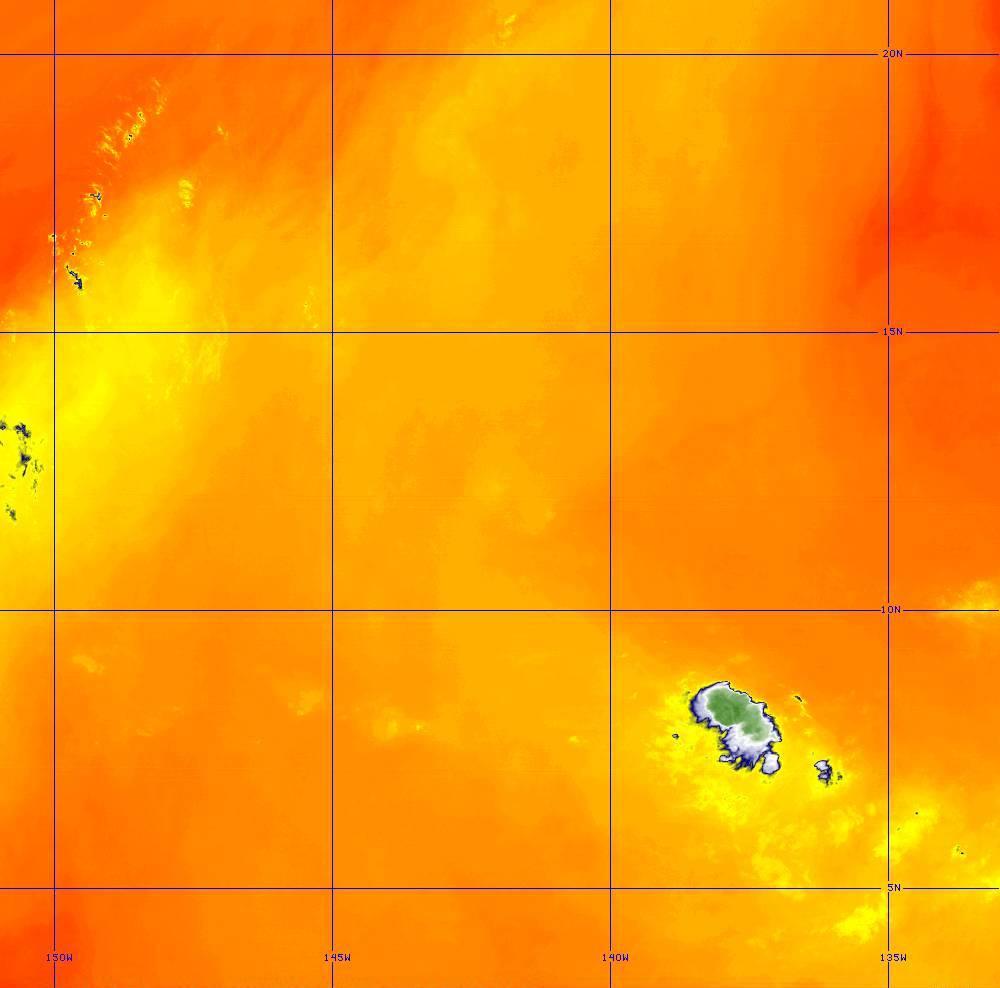 Band 10 - 7.3 µm - Lower-level Water Vapor - IR - 28 Jun 2020 - 1450 UTC