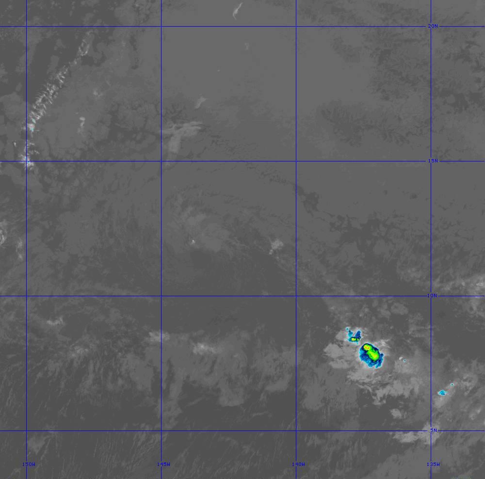 Band 11 - 8.4 µm - Cloud Top - IR - 28 Jun 2020 - 1300 UTC