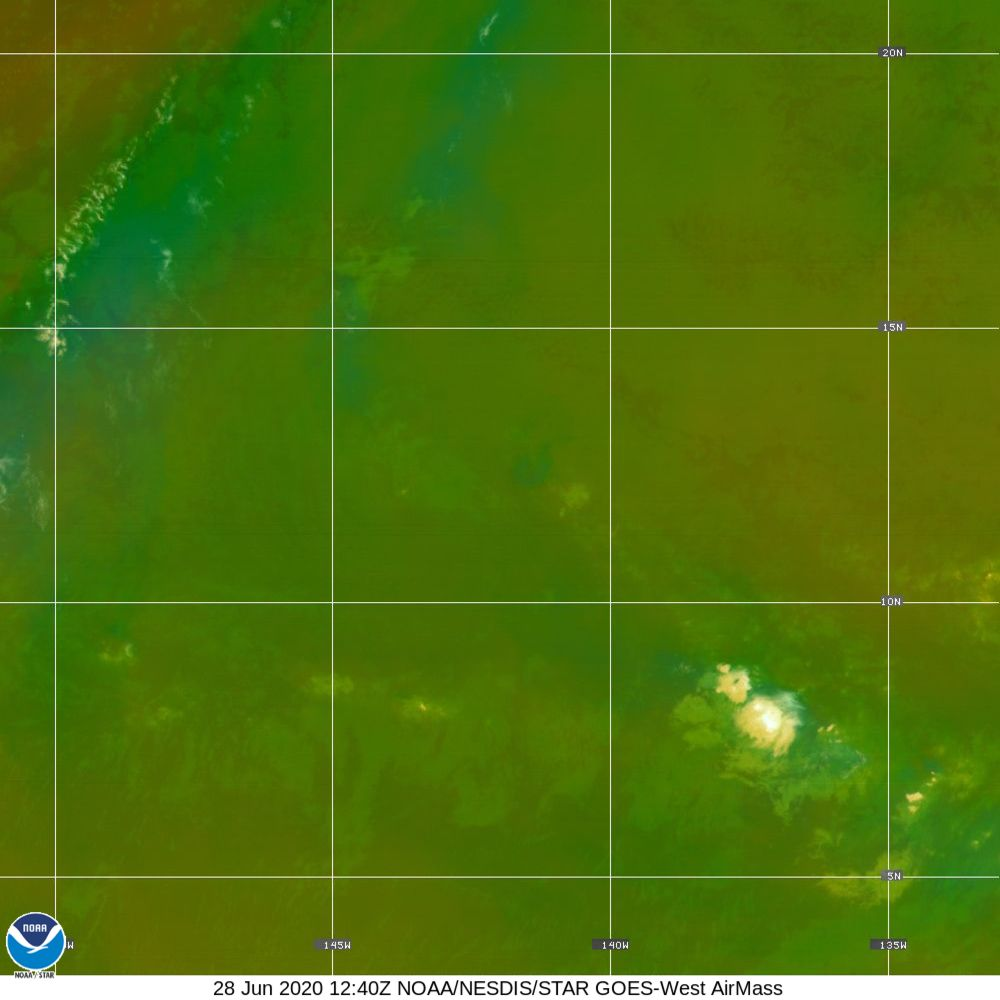 Air Mass - RGB composite based on the data from IR and WV - 28 Jun 2020 - 1240 UTC