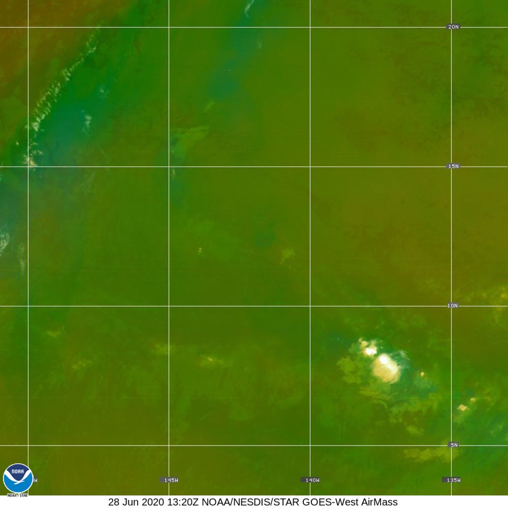 Air Mass - RGB composite based on the data from IR and WV - 28 Jun 2020 - 1320 UTC