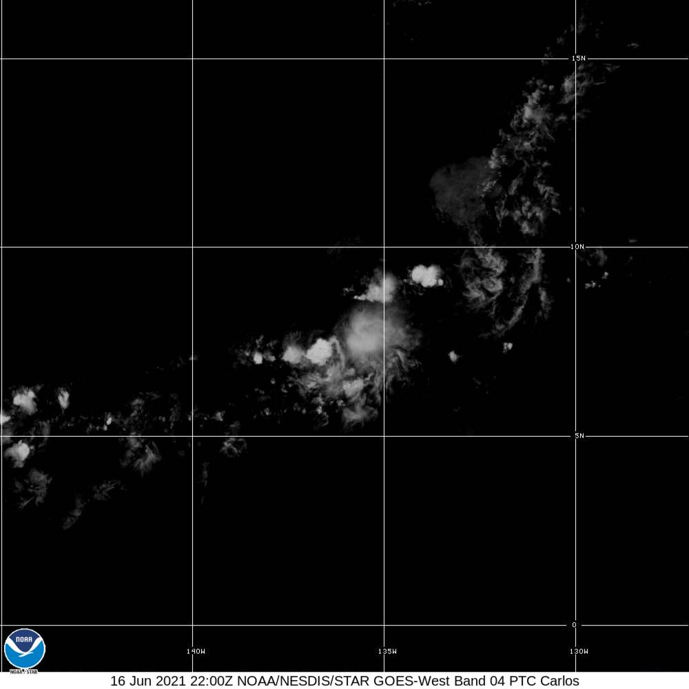 Band 4 - 1.37 µm - Cirrus - Near IR - 16 Jun 2021 - 2200 UTC