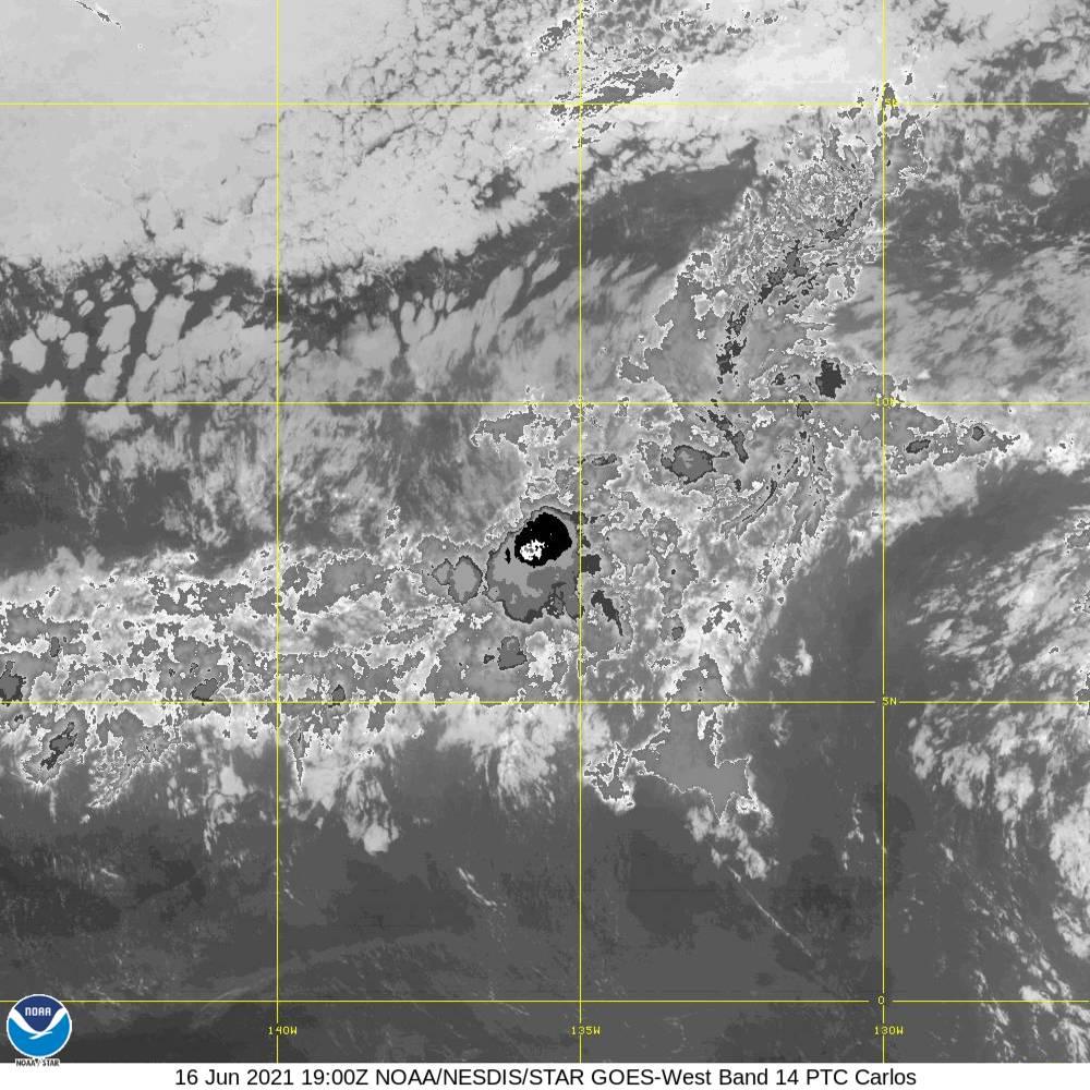 Band 14 - 11.2 µm - Longwave Window - IR - 16 Jun 2021 - 1900 UTC