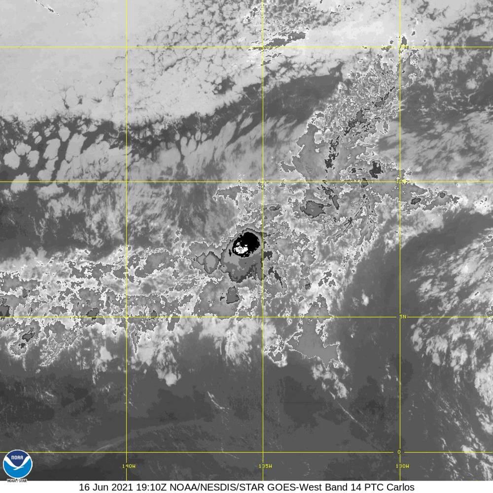 Band 14 - 11.2 µm - Longwave Window - IR - 16 Jun 2021 - 1910 UTC