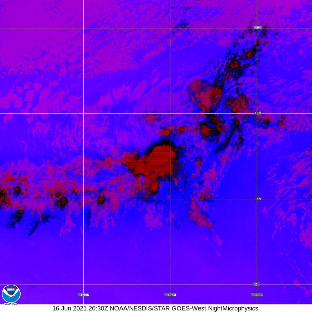 Nighttime Microphysics - RGB used to distinguish clouds from fog - 16 Jun 2021 - 2030 UTC