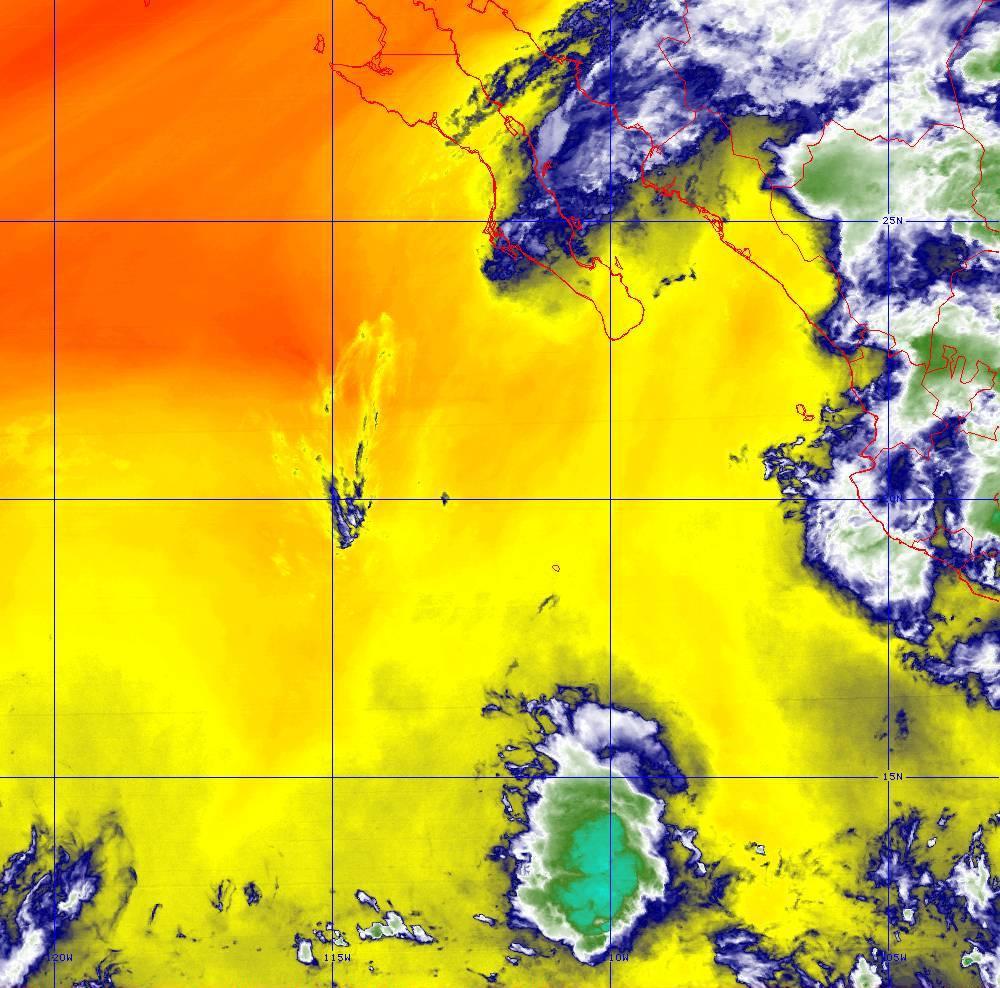 Band 10 - 7.3 µm - Lower-level Water Vapor - IR - 01 Jul 2020 - 0410 UTC