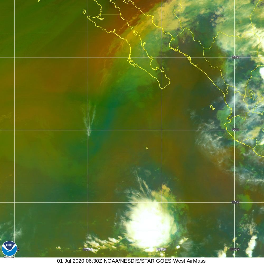 Air Mass - RGB composite based on the data from IR and WV - 01 Jul 2020 - 0630 UTC