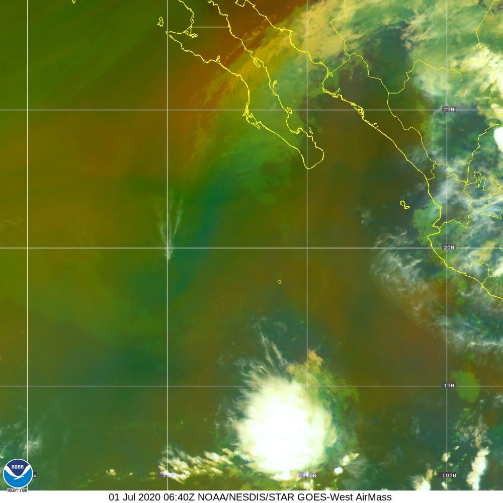 Air Mass - RGB composite based on the data from IR and WV - 01 Jul 2020 - 0640 UTC