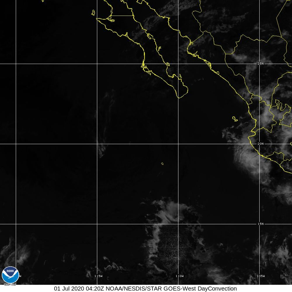 Day Convection - RGB used to identify areas of rapid intensification - 01 Jul 2020 - 0420 UTC