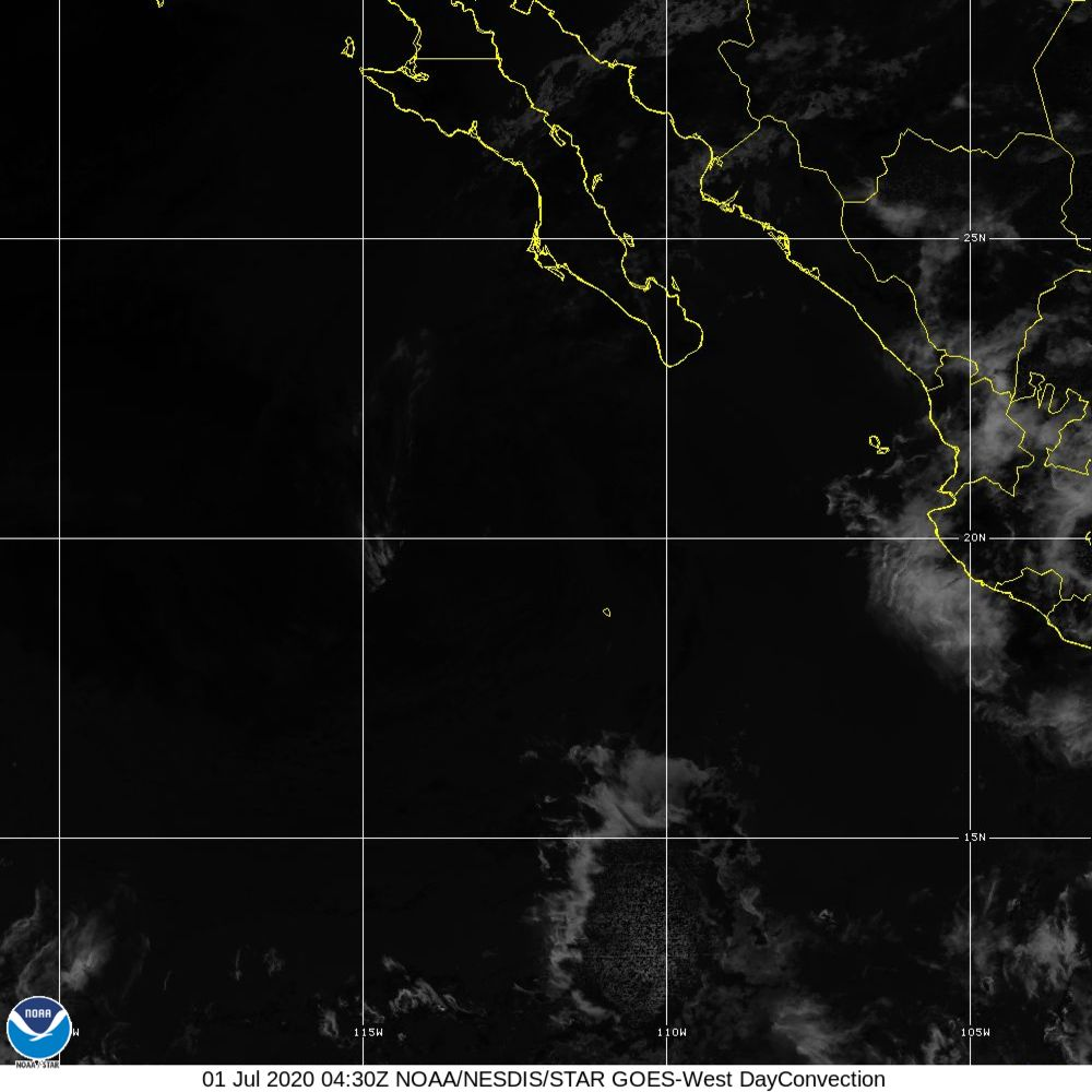Day Convection - RGB used to identify areas of rapid intensification - 01 Jul 2020 - 0430 UTC