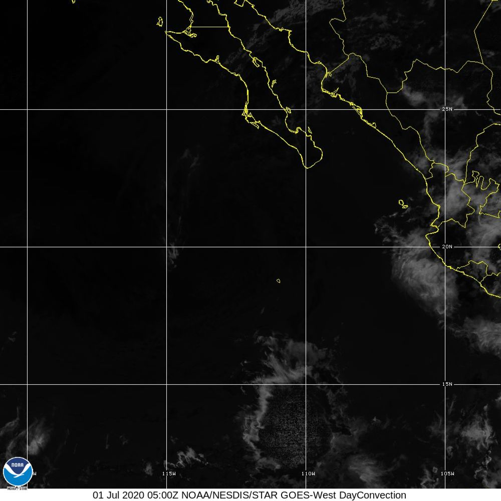 Day Convection - RGB used to identify areas of rapid intensification - 01 Jul 2020 - 0500 UTC
