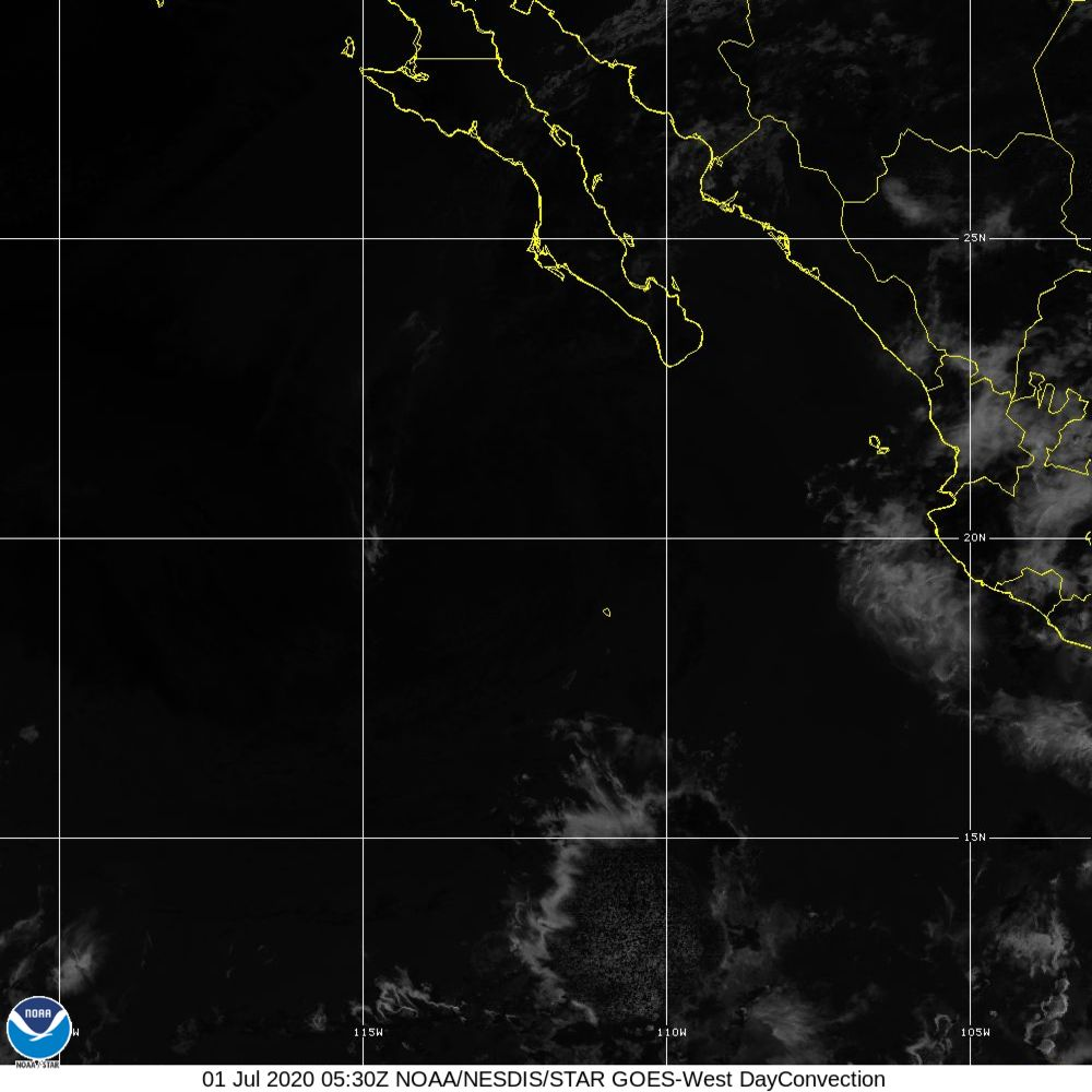 Day Convection - RGB used to identify areas of rapid intensification - 01 Jul 2020 - 0530 UTC