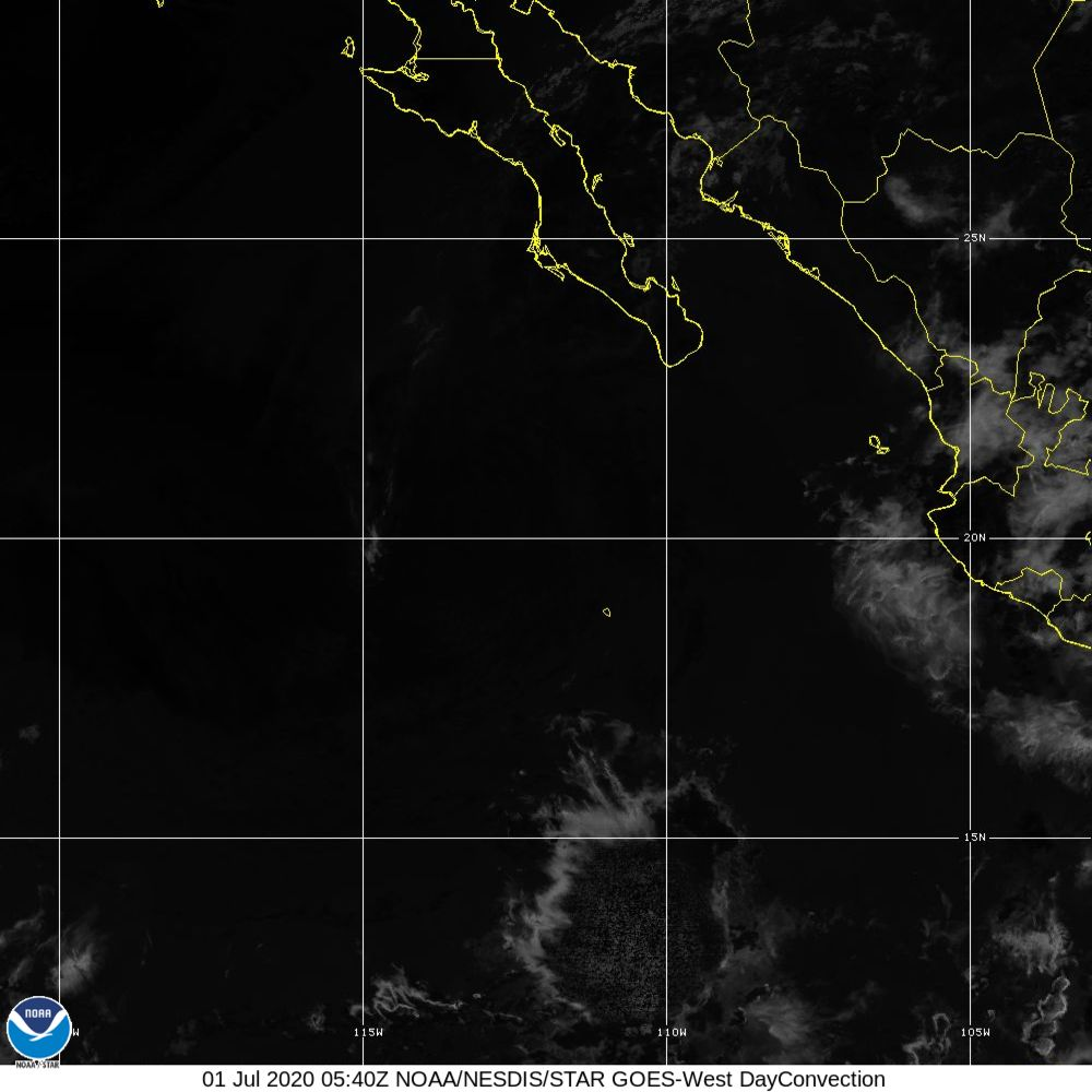 Day Convection - RGB used to identify areas of rapid intensification - 01 Jul 2020 - 0540 UTC