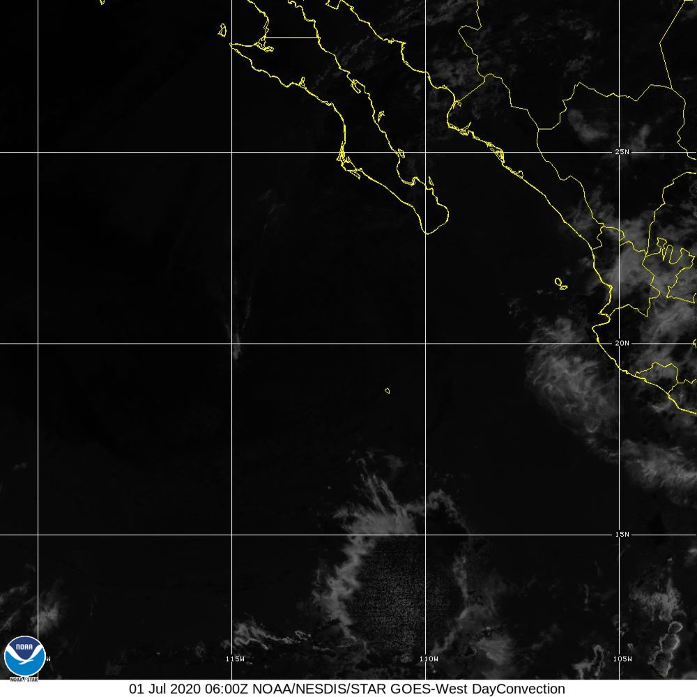Day Convection - RGB used to identify areas of rapid intensification - 01 Jul 2020 - 0600 UTC