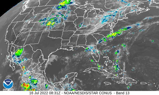 US Infrared Satellite Image