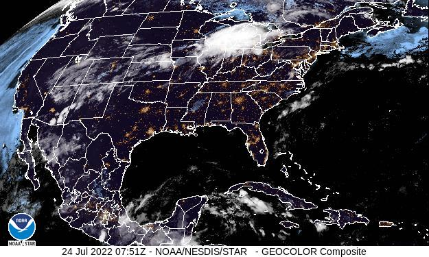 Latest GOES-East CONUS GeoColor Image - click for loop