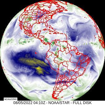 Goes East Full Disk Water Vapor