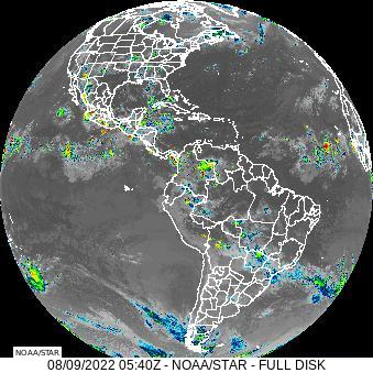 Goes East Full Disk Longwave Infrared 4