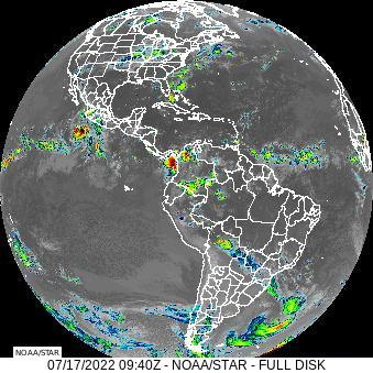 Latest Eastern United States and Western Atlantic Ocean Infrared Animated Satellite Loop Thumbnail