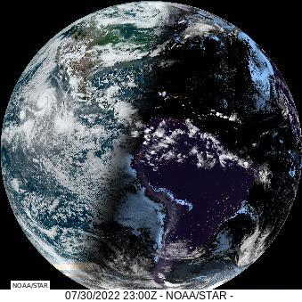 Goes East Full Disk GeoColor