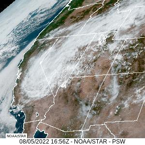 Nevada, Arizona, Utah & New Mexico Visible GeoColor Satellite